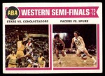 1974 Topps #247   ABA West Semi-Finals Front Thumbnail