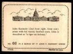 1964 Topps JFK #66   Varsity Football Team Back Thumbnail