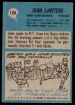 1964 Philadelphia #120  John Lovetere   Back Thumbnail