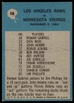 1964 Philadelphia #98   -  Harland Svare   Rams Play of the Year Back Thumbnail