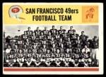 1964 Philadelphia #167   49ers Team Front Thumbnail