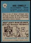 1964 Philadelphia #45  Mike Connelly  Back Thumbnail
