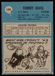 1964 Philadelphia #159  Tommy Davis   Back Thumbnail