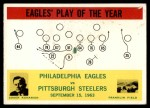 1964 Philadelphia #140   -  Joe Kuharich Eagles Play of the Year Front Thumbnail