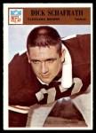 1966 Philadelphia #50  Dick Schafrath  Front Thumbnail