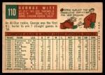1959 Topps #110  George Witt  Back Thumbnail