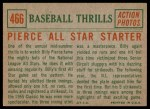 1959 Topps #466   -  Bill Pierce All Star Starter Back Thumbnail