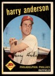 1959 Topps #85  Harry Anderson  Front Thumbnail