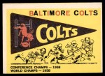 1959 Topps #68   Colts Pennant Front Thumbnail