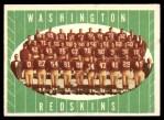 1961 Topps #131   Redskins Team Front Thumbnail
