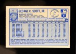 1976 Kellogg's #21  George Scott  Back Thumbnail