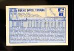 1976 Kellogg's #30  Frank Tanana  Back Thumbnail