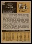 1971 Topps #244  Jackie Smith  Back Thumbnail
