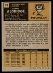 1971 Topps #28  Lionel Aldridge  Back Thumbnail