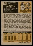 1971 Topps #98  Gerry Philbin  Back Thumbnail