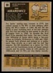 1971 Topps #90  Dan Abramowicz  Back Thumbnail