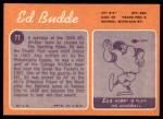 1970 Topps #77  Ed Budde  Back Thumbnail