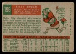 1959 Topps #196  Billy Moran  Back Thumbnail