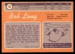 1970 Topps #53  Bob Long  Back Thumbnail