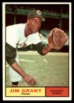 1961 Topps #18  Mudcat Grant  Front Thumbnail