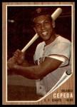1962 Topps #40  Orlando Cepeda  Front Thumbnail