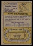 1974 Topps #162  Jon Staggers  Back Thumbnail