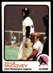 1973 Topps #410  Willie McCovey  Front Thumbnail
