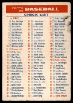 1956 Topps   Checklist - Series 1/3 Front Thumbnail