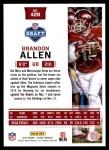 2016 Score #428  Brandon Allen  Back Thumbnail
