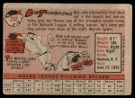 1958 Topps #252  Bob Trowbridge  Back Thumbnail