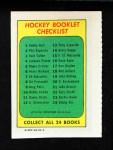 1971 Topps O-Pee-Chee Booklets #12  Alex Delvecchio  Back Thumbnail