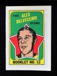 1971 Topps O-Pee-Chee Booklets #12  Alex Delvecchio  Front Thumbnail
