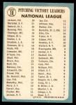 1965 Topps #10   -  Juan Marichal / Larry Jackson / Ray Sadecki NL Pitching Leaders Back Thumbnail