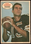 1968 Topps Poster #9  Gary Cuozzo  Front Thumbnail