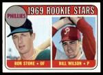 1969 Topps #576   -   Ron Stone / Bill Wilson Phillies Rookies Front Thumbnail