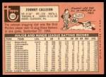 1969 Topps #133  Johnny Callison  Back Thumbnail