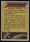 1977 Topps Star Wars #81   Weapons of the Death Star Back Thumbnail