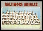1970 Topps #387   Orioles Team Front Thumbnail