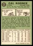 1967 Topps #171  Cal Koonce  Back Thumbnail