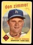 1959 Topps #287  Don Zimmer  Front Thumbnail