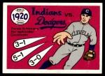 1970 Fleer World Series #17   -  Stan Coveleski 1920 Indians vs. Dodgers   Front Thumbnail