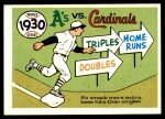 1970 Fleer World Series #27   1930 A's vs. Cardinals Front Thumbnail