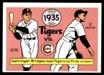1970 Fleer World Series #32   -  Charlie Gehringer 1935 Tigers vs. Cubs   Front Thumbnail