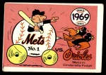 1970 Fleer World Series #66   1969 Mets vs. Orioles Front Thumbnail