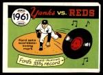 1970 Fleer World Series #58   -  Whitey Ford 1961 Yankees vs. Reds   Front Thumbnail