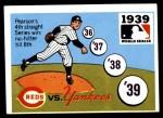 1971 Fleer World Series #37   1939 Yankees / Reds Front Thumbnail
