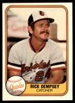 1981 Fleer #177 xHAND Rick Dempsey  Front Thumbnail