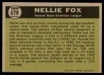 1961 Topps #570   -  Nellie Fox All-Star Back Thumbnail