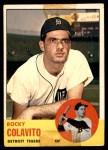 1963 Topps #240  Rocky Colavito  Front Thumbnail