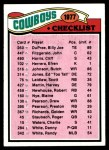 1977 Topps #207   Cowboys Team Checklist Front Thumbnail